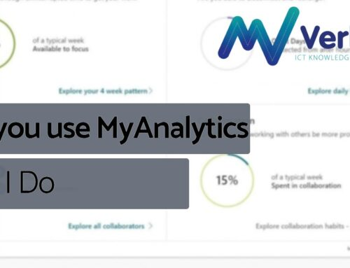 Do you use MyAnalytics… Yes, I do!